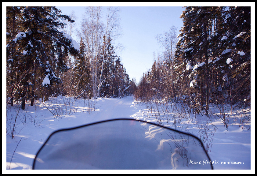 The only photo I managed to take while ski doo-ing
